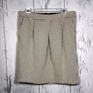 Banana Republic Black&White Houndstooth Skirt 10